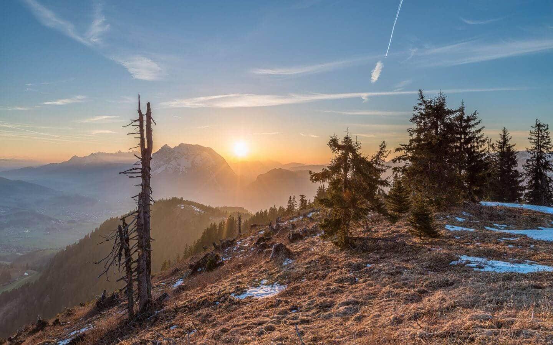 Sonnenuntergang auf der hohen Trett