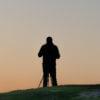 Silhouette eines Kursteilnehmers am Stoderzinken