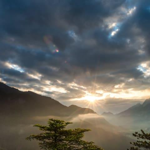 Sonnenaufgang im Gesäuse